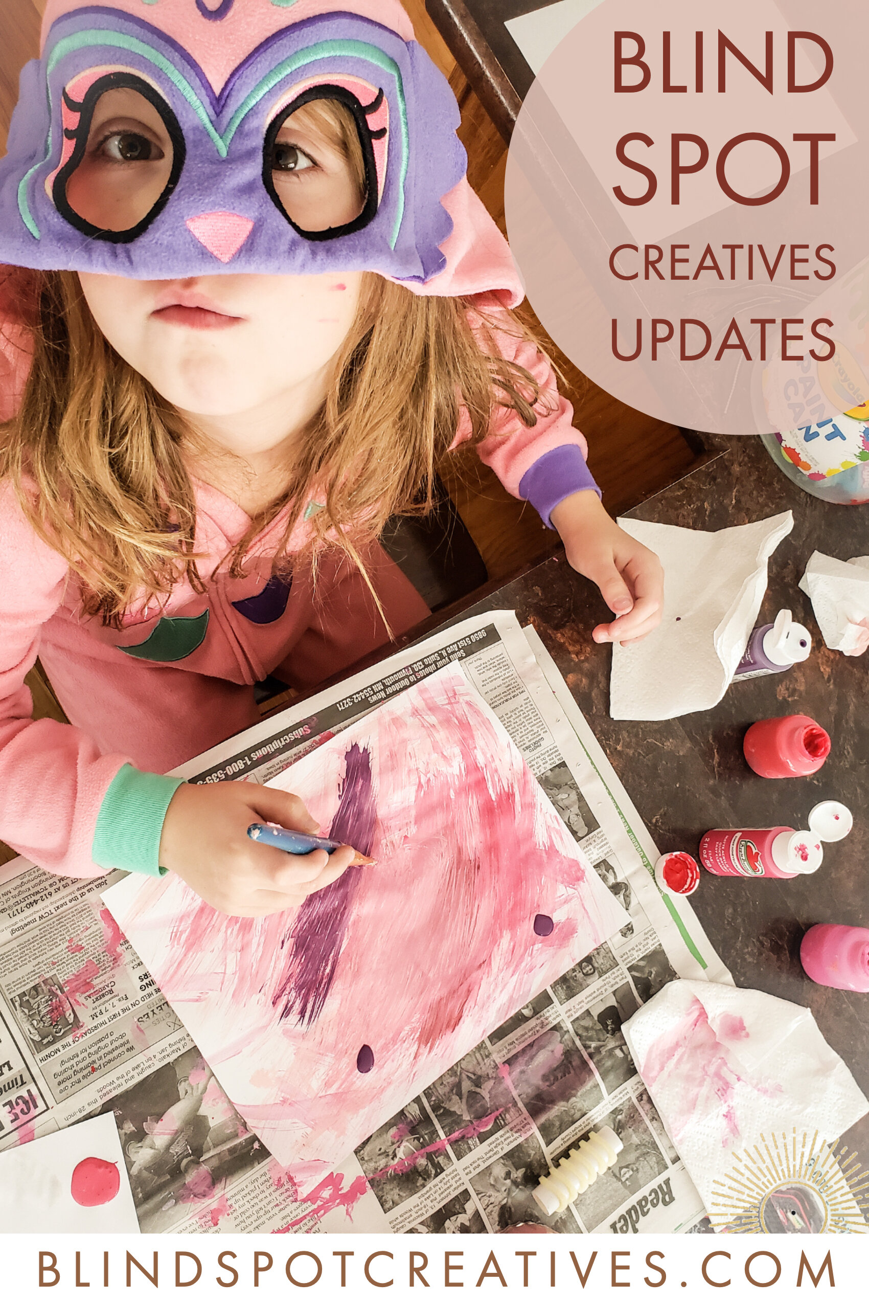 Blind Spot Creatives Updates - Avianna Painting - Duluth, Minnesota - Alyssa Johnson Photography & Writing