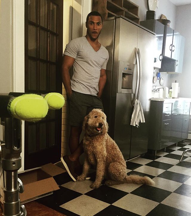 #tbt To a fun day on set of,  How to Pick Your Second Husband First with @ahall382 and Mattie! #setlife #boston #dogs