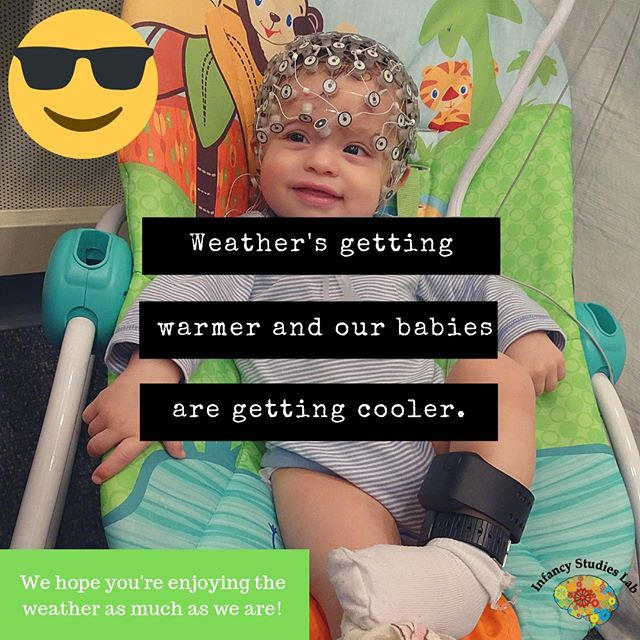 Weather's getting warmer and our babies are getting cooler. We hope you're enjoying the weather as much as we are!  #playforscience #science #neuroscience #infants #baby #babiesofinstagram #infant #instagrambabies #instababies #newborn #parents #parenting #toddler #child #children #research #rutgers #newark #newjersey #nj #runewark #dyslexia #adhd #add #autism #spring