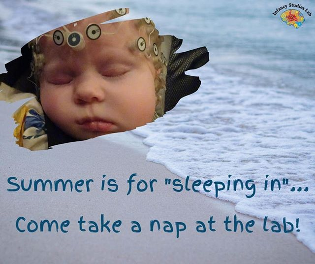 Summer is here and we're looking for 3 month-old infants to participate in our sleep study. Beat the heat by bringing your baby in to nap in our cool sleep suite.  Learn more about the study and how to participate here: https://www.babylab.rutgers.edu/participate
