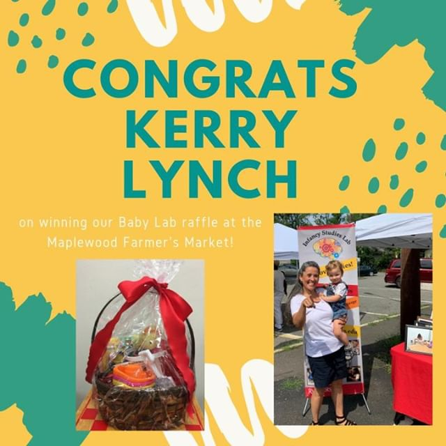 Thank you to everyone who came to our table at the Maplewood Farmer's Market! It was so nice meeting some new families and seeing one of our past participants (see photo on bottom right). Congrats again to Kerry Lynch, winner of our gift basket filled with baby toys!