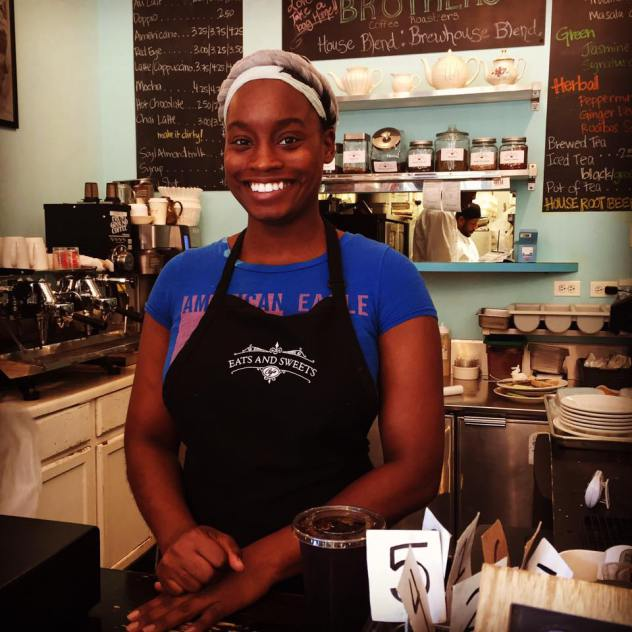 Barista Aneisa Hicks - joined the team!