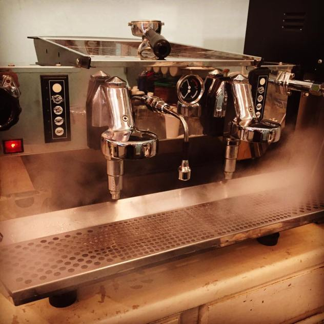 - We got a SICK new espresso machine.