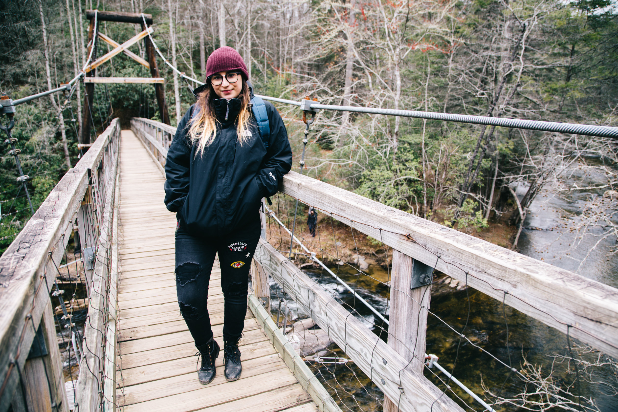 Nomadic Rambles The Swinging Bridge You Have To Hike In The