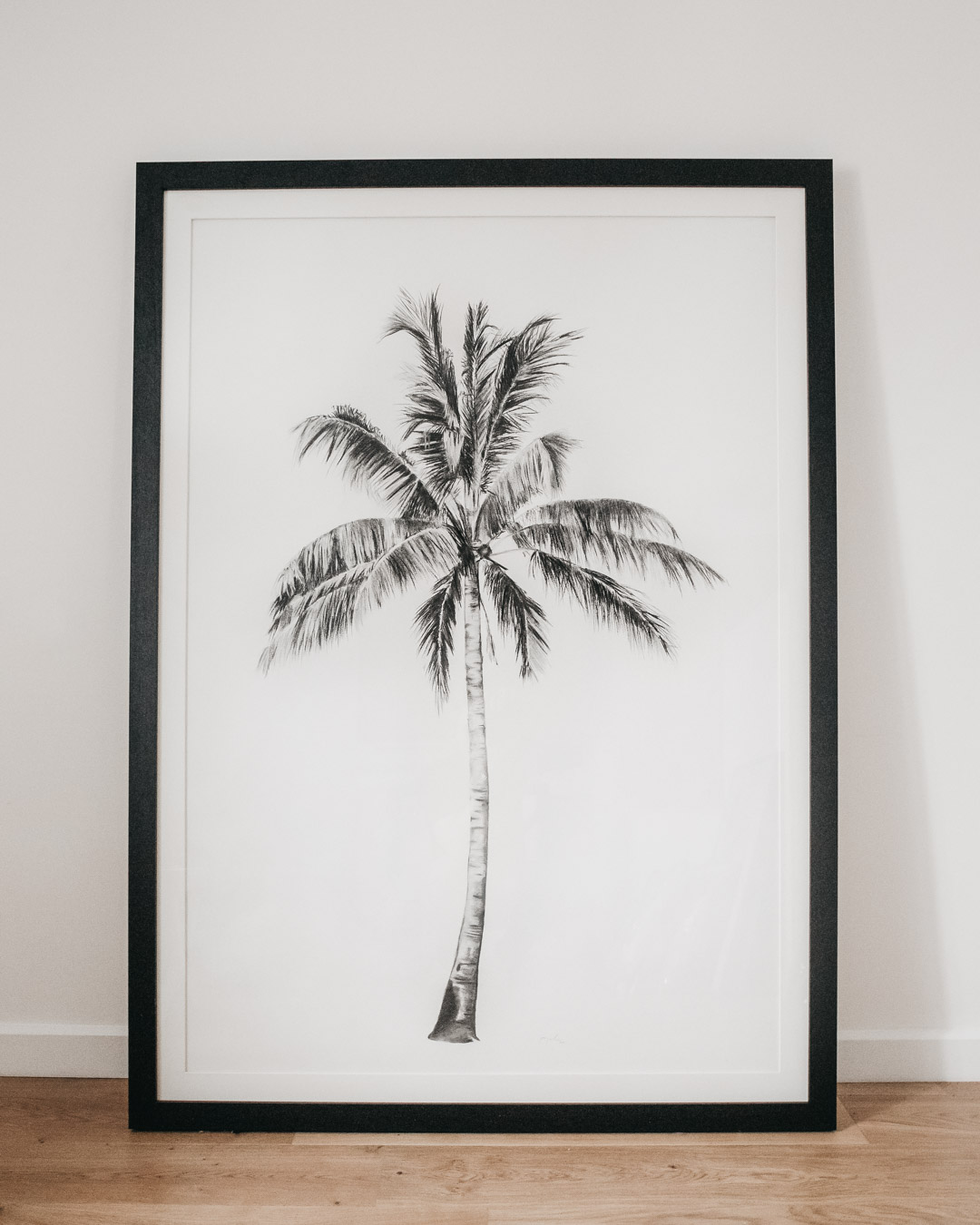 Size adds impact but also needs space to breathe like this stunning Charcoal Palm Tree by Jo Painter