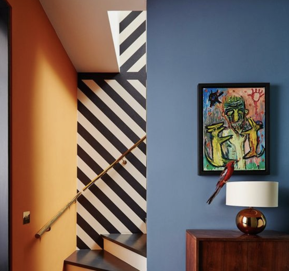 A dramatic use of contrast creates a playful feel in this Notting Hill townhouse. From House And Garden