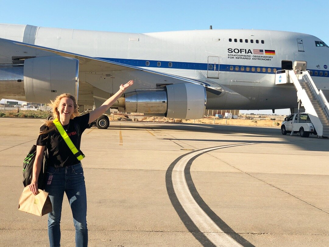 In August 2018, I had the opportunity to be a guest observer on SOFIA, NASA's stratospheric airborne observatory, for a night! On the flight, we obtained new spectra of BD+20307!