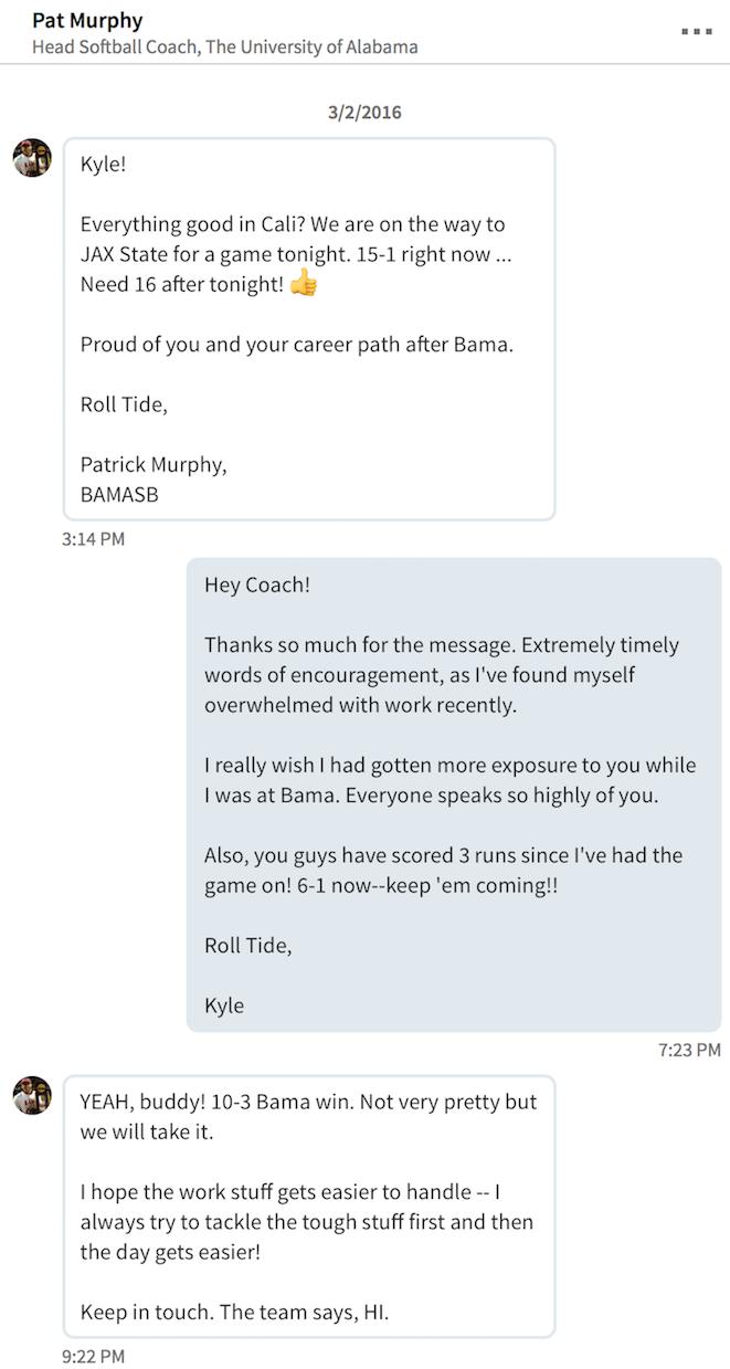 Coach Murphy's Advice