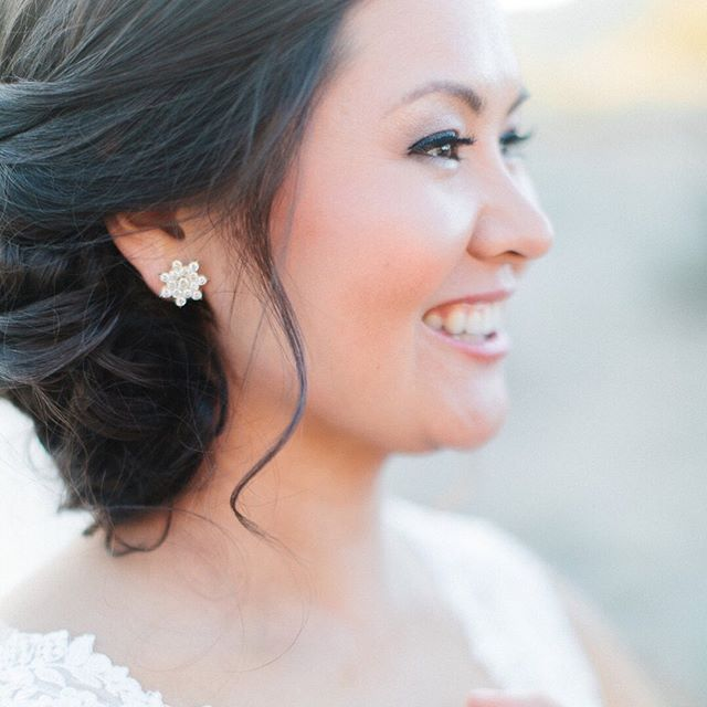 Gorgeous shot by @andrewjadephoto of this beautiful bride on the happiest day of her life! Makeup and hair by Haleigh, Clarice & Karina!