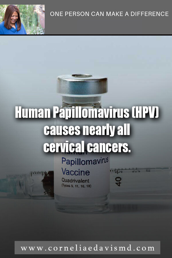 Human papillomavirus (HPV) causes nearly all cervical cancers. #HPV,    READ MORE:  https://www.cdc.gov/mmwr/volumes/68/wr/mm6833a3.htm