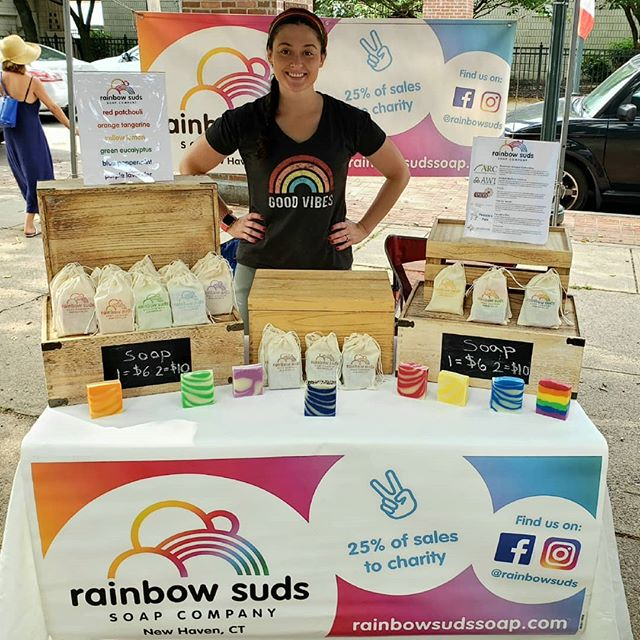 We've gone paperless! We're trying out mini canvas bags instead of paper wrappers + paper bags. Let us know what you think! 🌈🌈www.rainbowsudssoap.com🌈🌈 #paperless #handmade #charity #rainbow #color #soap #allnatural #essentialoils #soapmaking #vegan #sustainable #sustainability #wedding #weddingfavors #gift #giftideas