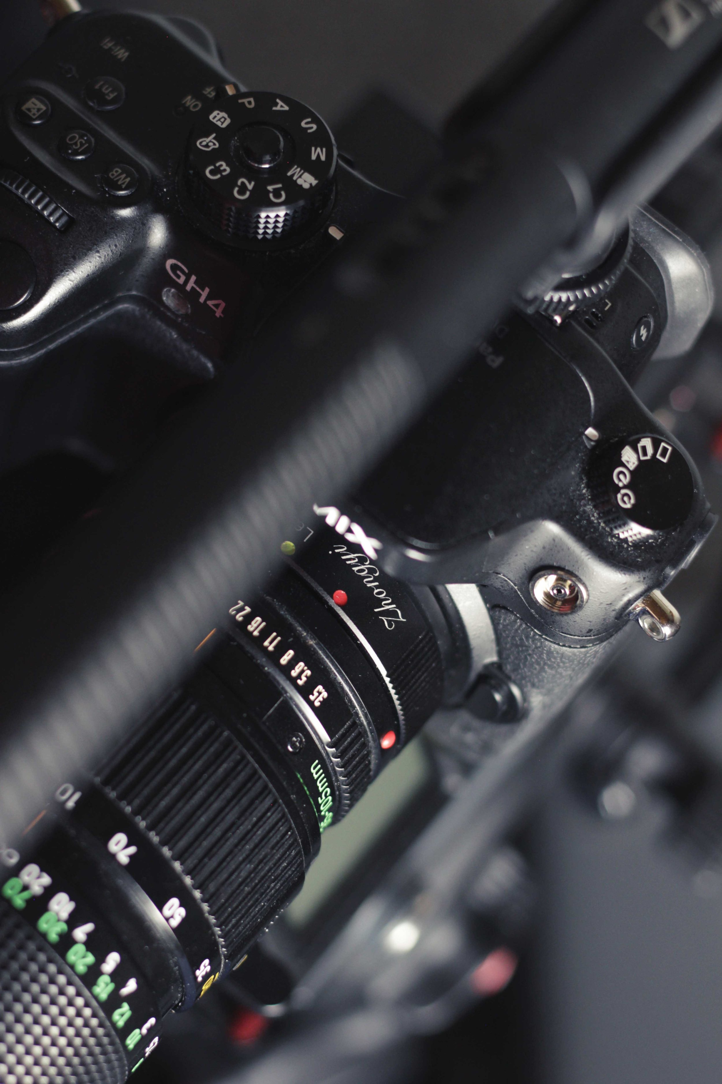 Panasonic GH4 with a Zhongyi LensTurbo II and a vintage Canon FD 35-105mm f/3.5
