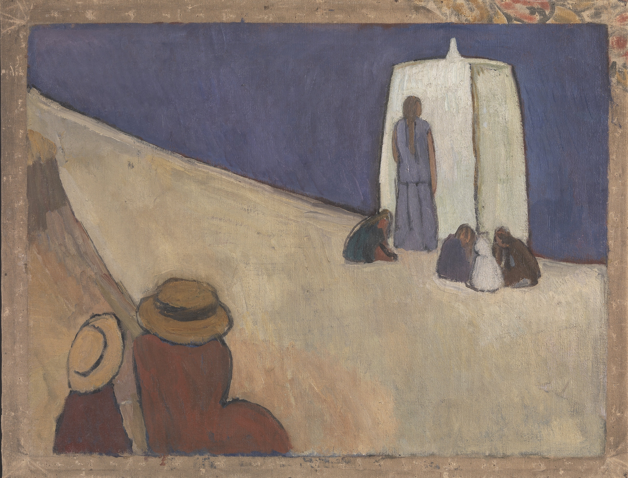 'Studland Beach. Verso: Group of Male Nudes by       Duncan Grant' (c.1912) Vanessa Bell 1879-1961        Reproduced with permission ©Tate, London 2017