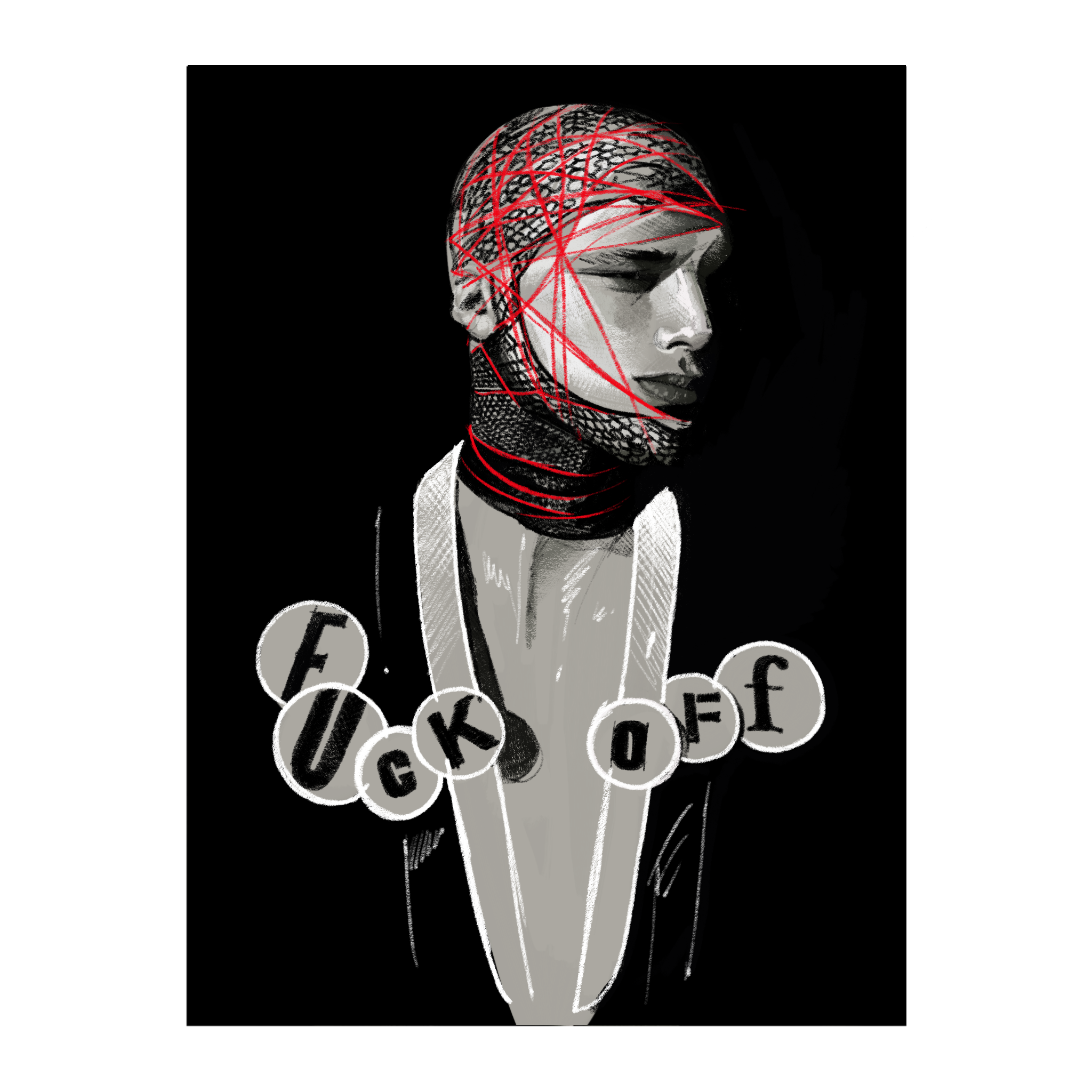 Illustration by  Fernando Monroy  based on a photograph by  William Baker,  Style Direction Judy Blame from i-D