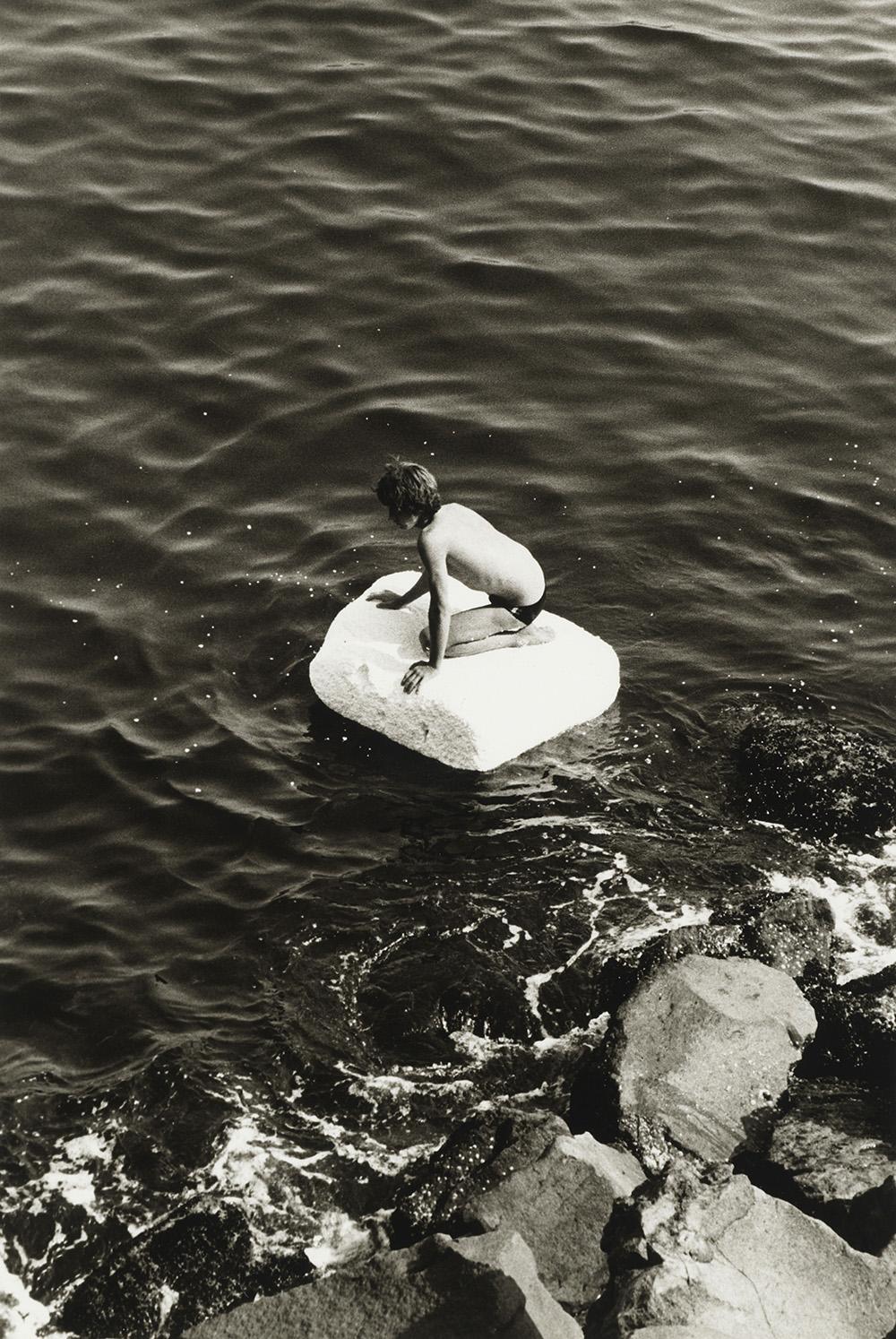 Boy On Raft (1978) © Peter Hujar Archive, LLC, courtesy Pace/MacGill Gallery, New York and Fraenkel Gallery,San Francisco
