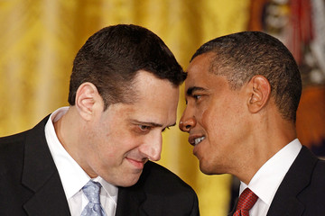 Stuart Milk and Obama at the Presidential Medal Of Freedom ceremony.