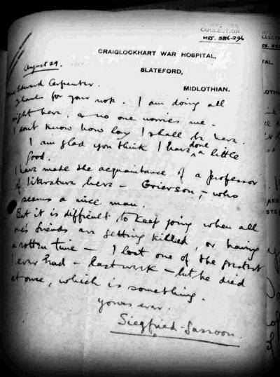 Sasson's letter to Carpenter