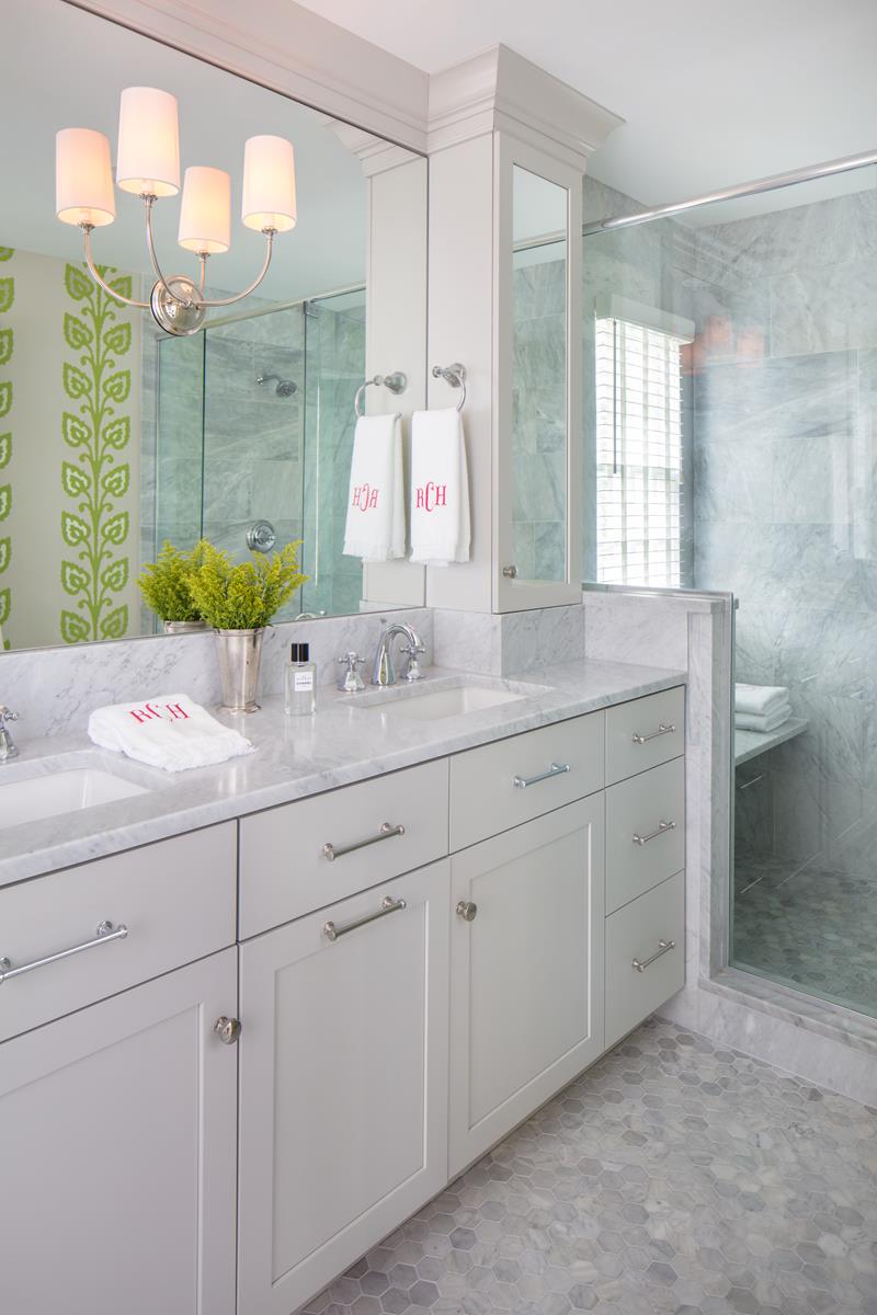 Traditional Marble Bathroom