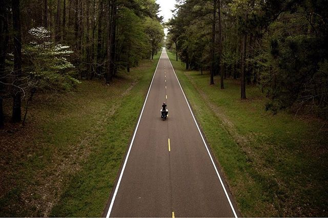 """""""The map had already been filled in. But only for those who choose to follow it,"""" @noahhussin and his prose from the film. 📷@timhussin #documentaryfilm #bicycletour #ontheroad #americarecycled #natcheztrace #bicyclelife"""
