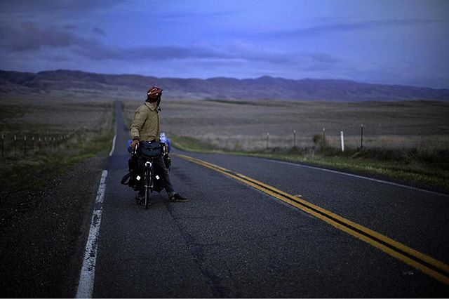Deep in the desert, there's more space between towns. More space between people. The silence can be deafening, and you can't help but confront the darkest corners of your soul. #americarecycled film is now out on Amazon Prime. Words by @noahhussin Image by @timhussin #ontheroad #bicyclelife #desertrats #biketour