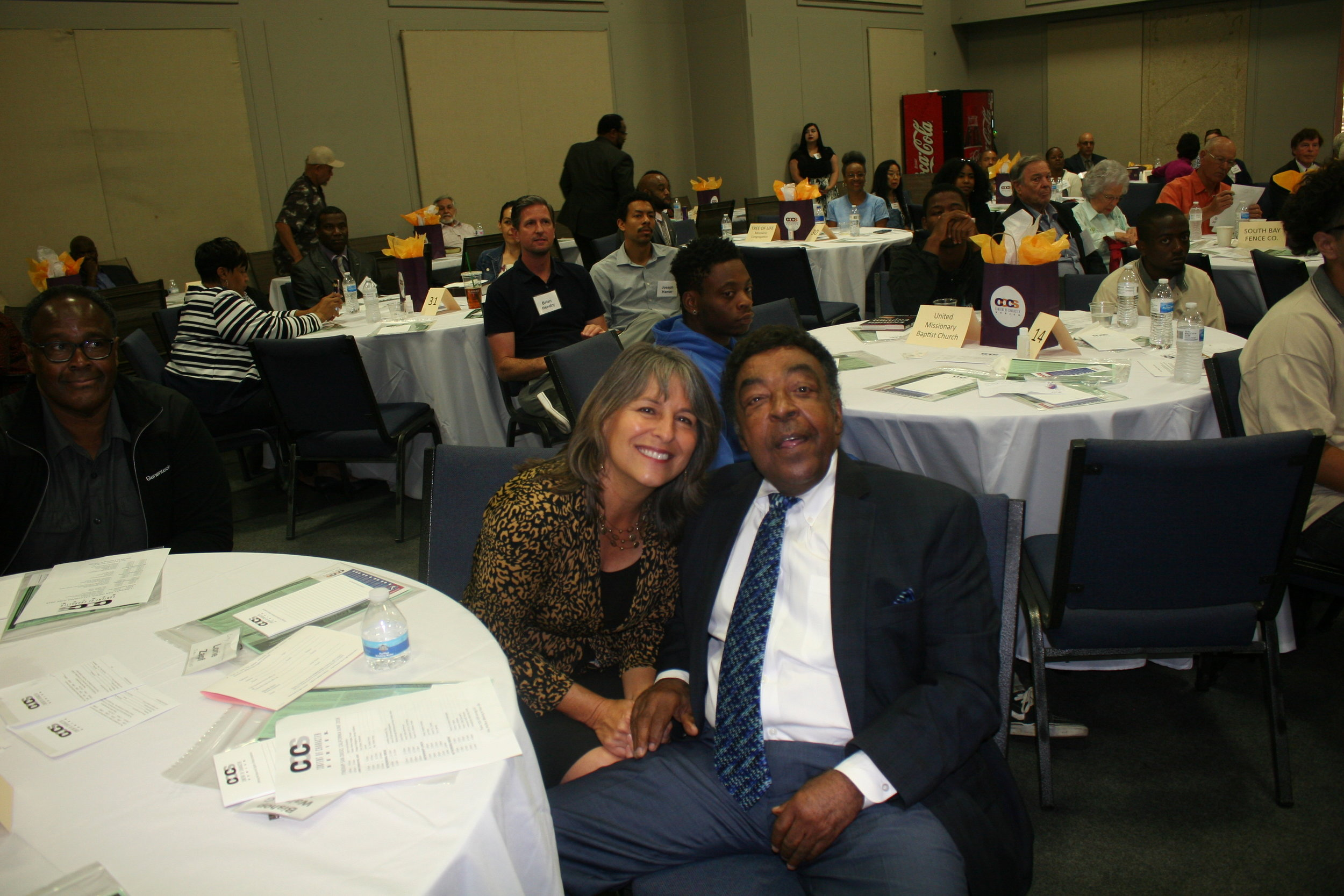 People - Lorie Zapf, Pastor Walter G. Wells.JPG