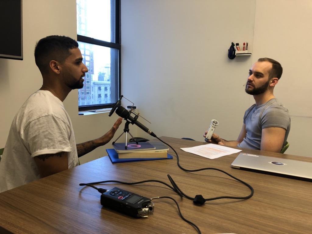 Aman Kanwar speaking with Joshua Croke
