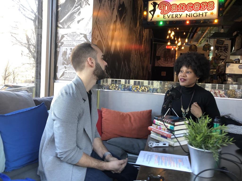Majora Carter speaking with Joshua Croke