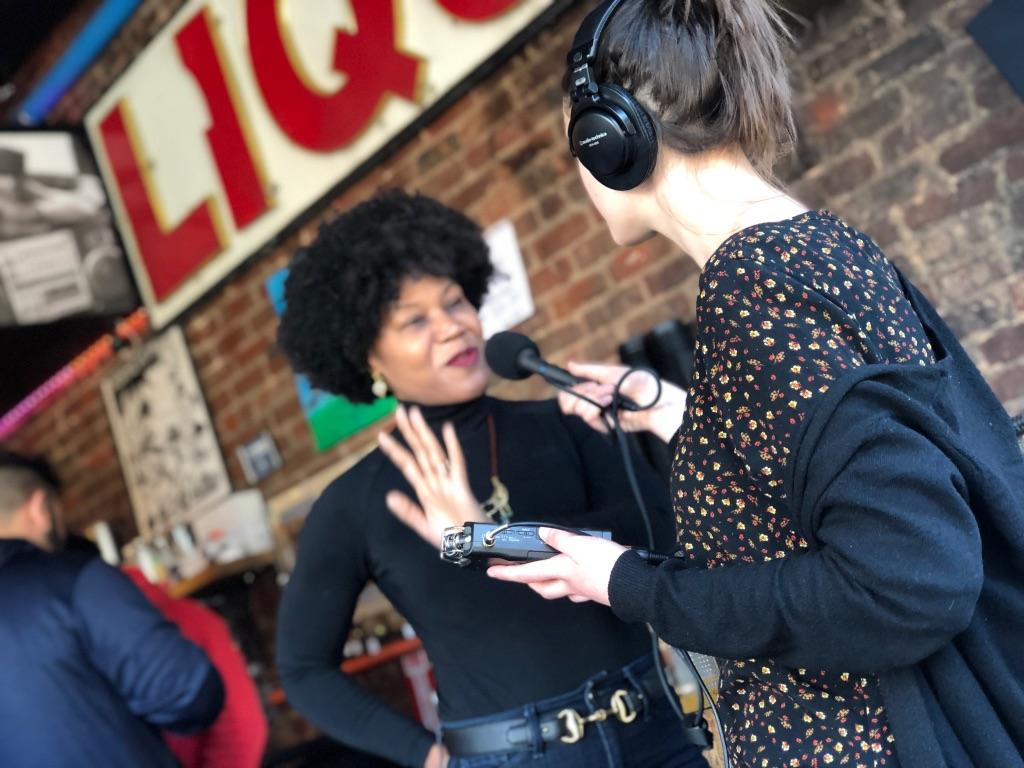Majora Carter speaking to producer Mariel Cariker