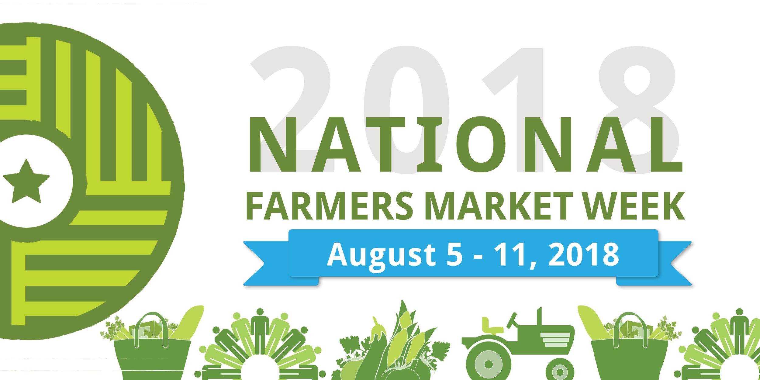 Celebrate Farmers Markets Aug 5-11, 2018 -