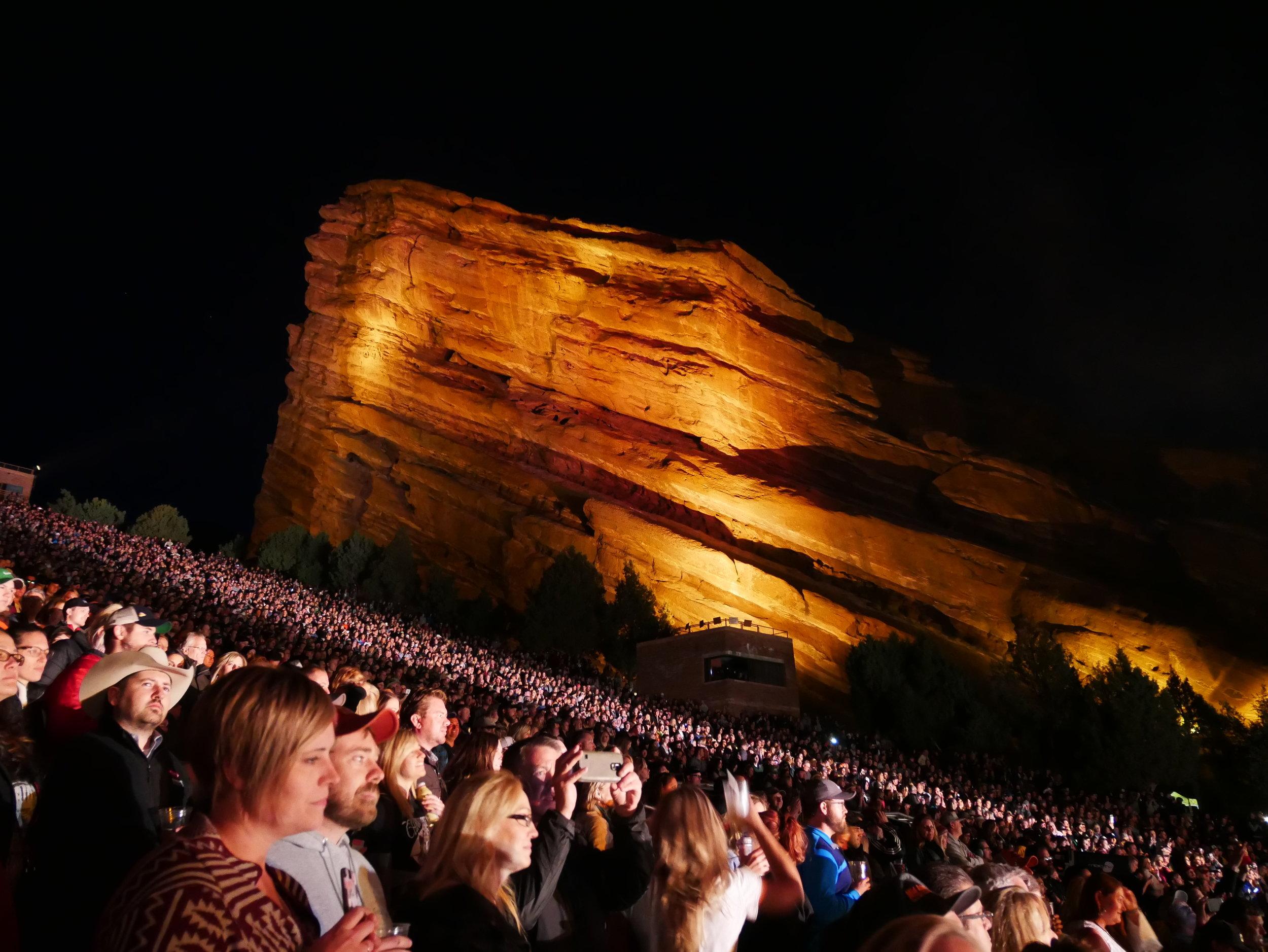 Red Rocks - Chris Stapleton concert