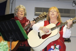 Image: Life Enrichment participants playing guitars