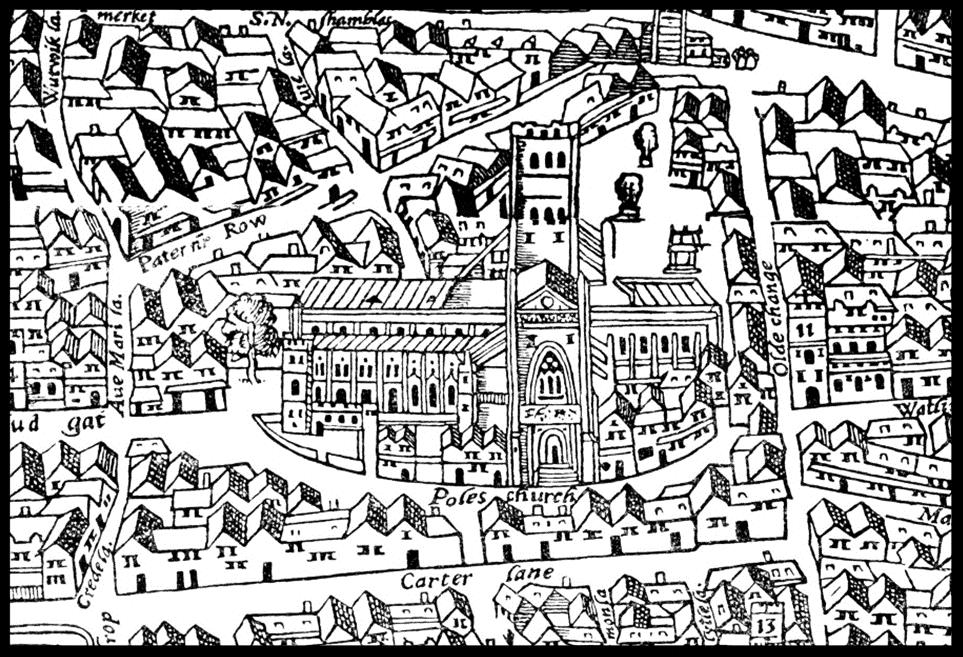 Paul's Churchyard,  The Agas Map