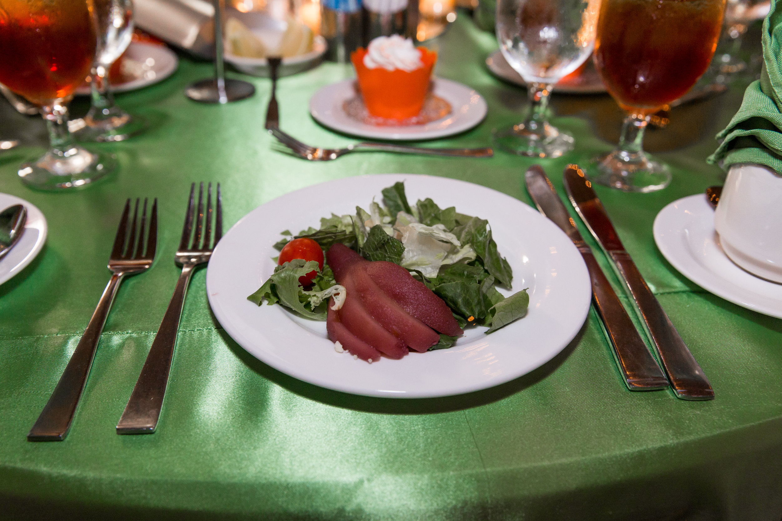 Salad at Serve Denton's 2017 Celebration