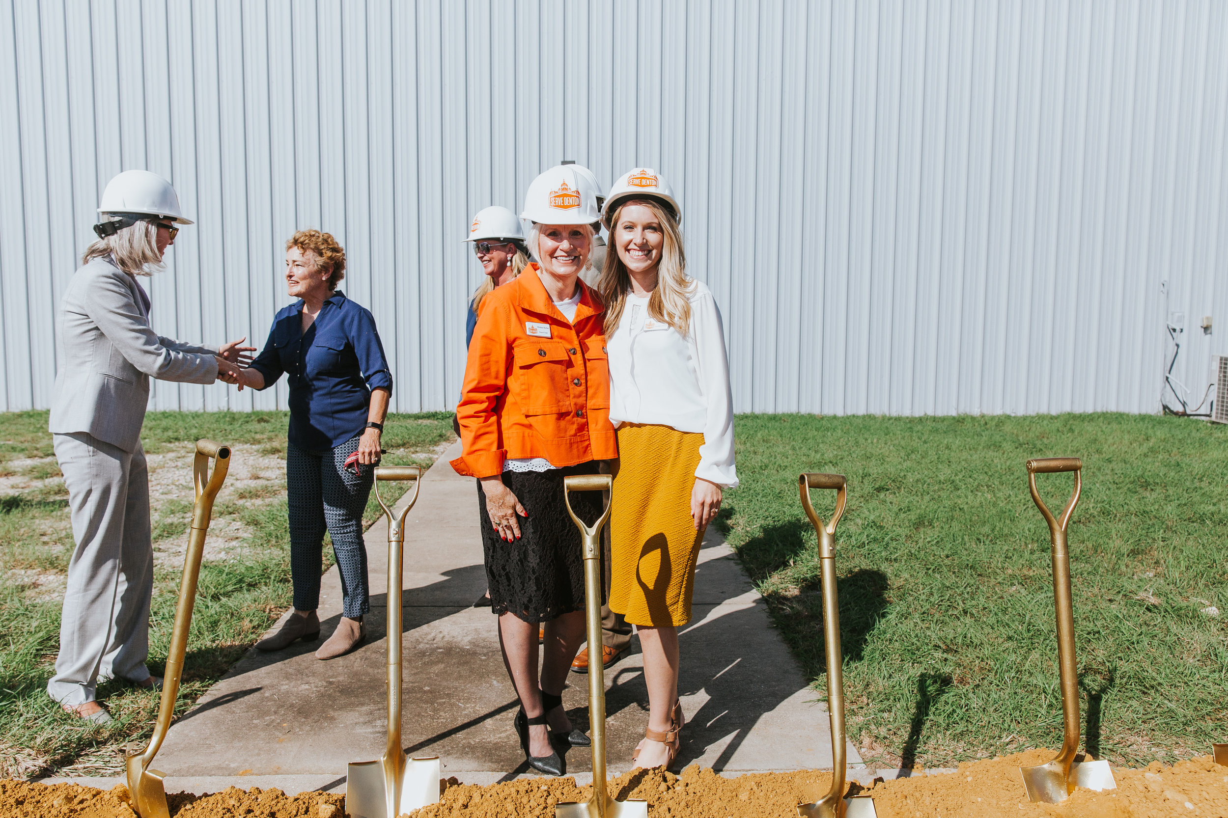 (Left to right) Serve Denton Board Chair Michele Barber and Serve Denton Executive Director Carlie Kuban.