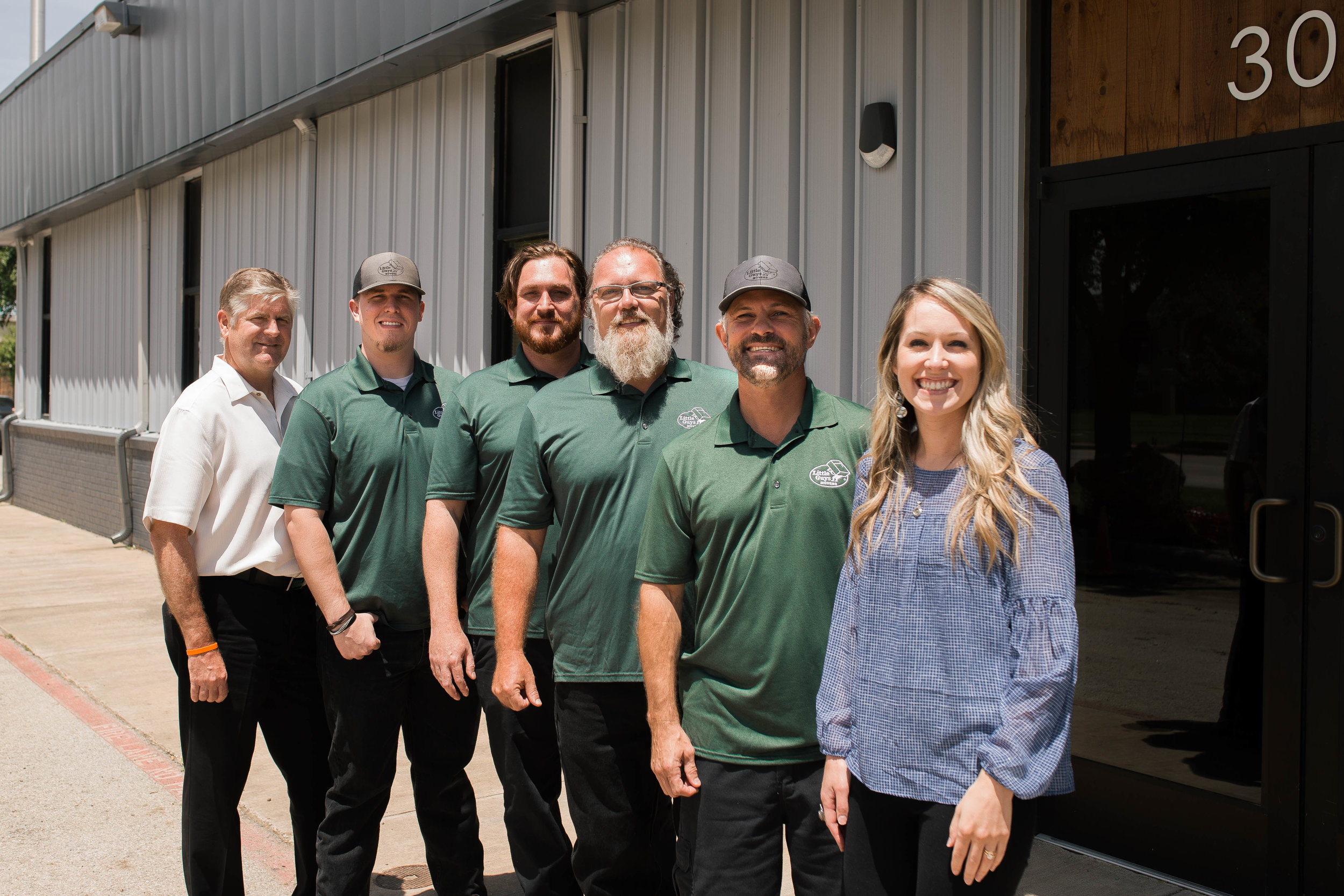 Serve Denton 2nd Vice Chair Hank Dickenson, Little Guys Movers Team Member Jordan Green, Little Guys MoversTeam Member Brad Steiger, Little Guys Movers Founder Marcus Watson, Little Guys Movers Team Member Chris Hawley, Serve Denton Executive Director Carlie Kuban