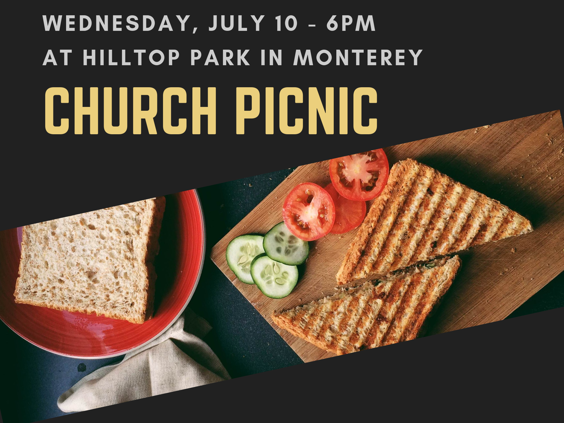 Church Picnic: July 10 at 6:00 p m  — Wellspring Church