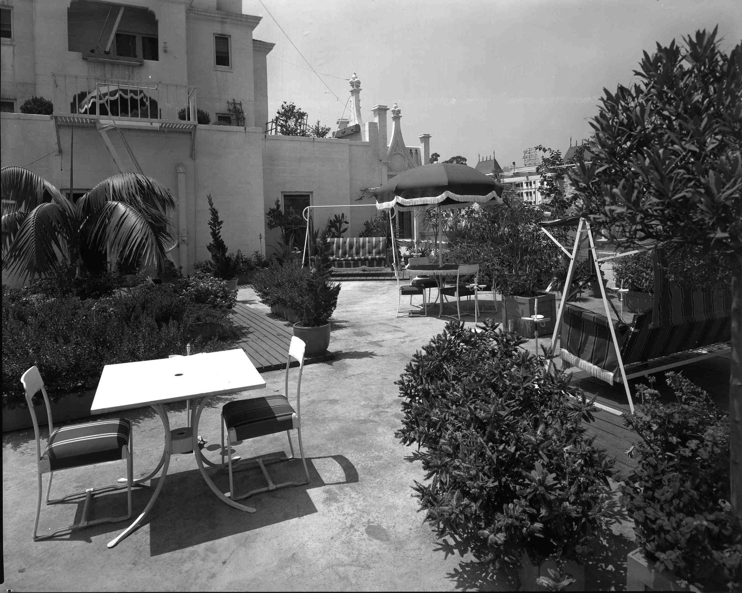 Hollywood Tower's rooftop terrace in 1942