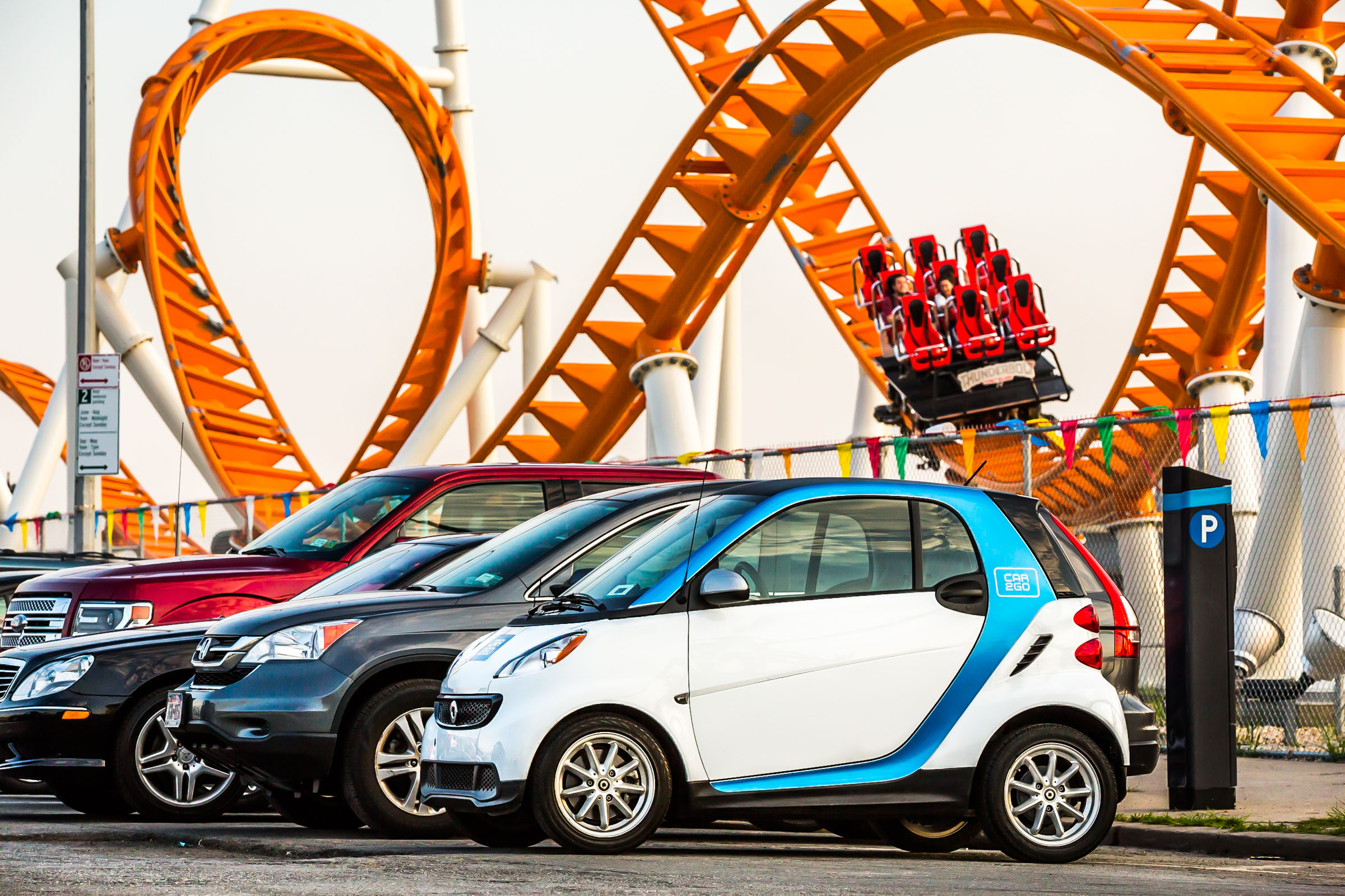 Car2go local marketing campaign. Coney Island, NY