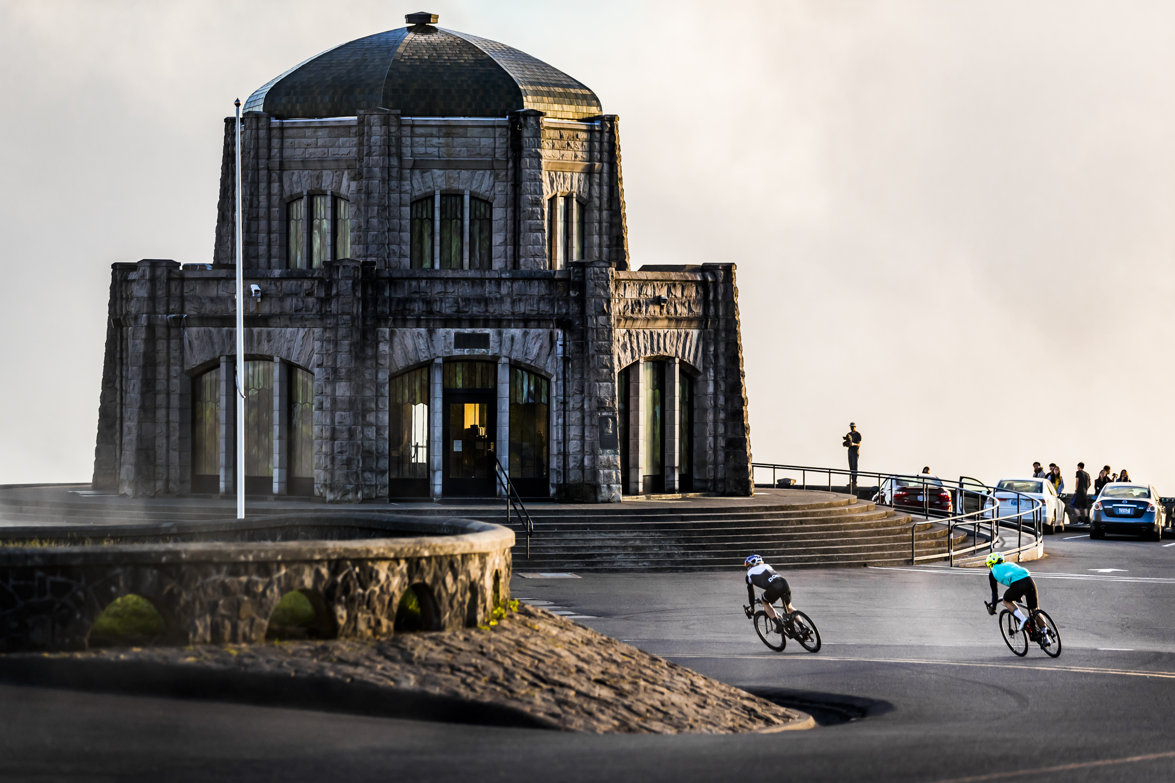Eric Lagerstrom RedBull Triathlete. Vista House, OR