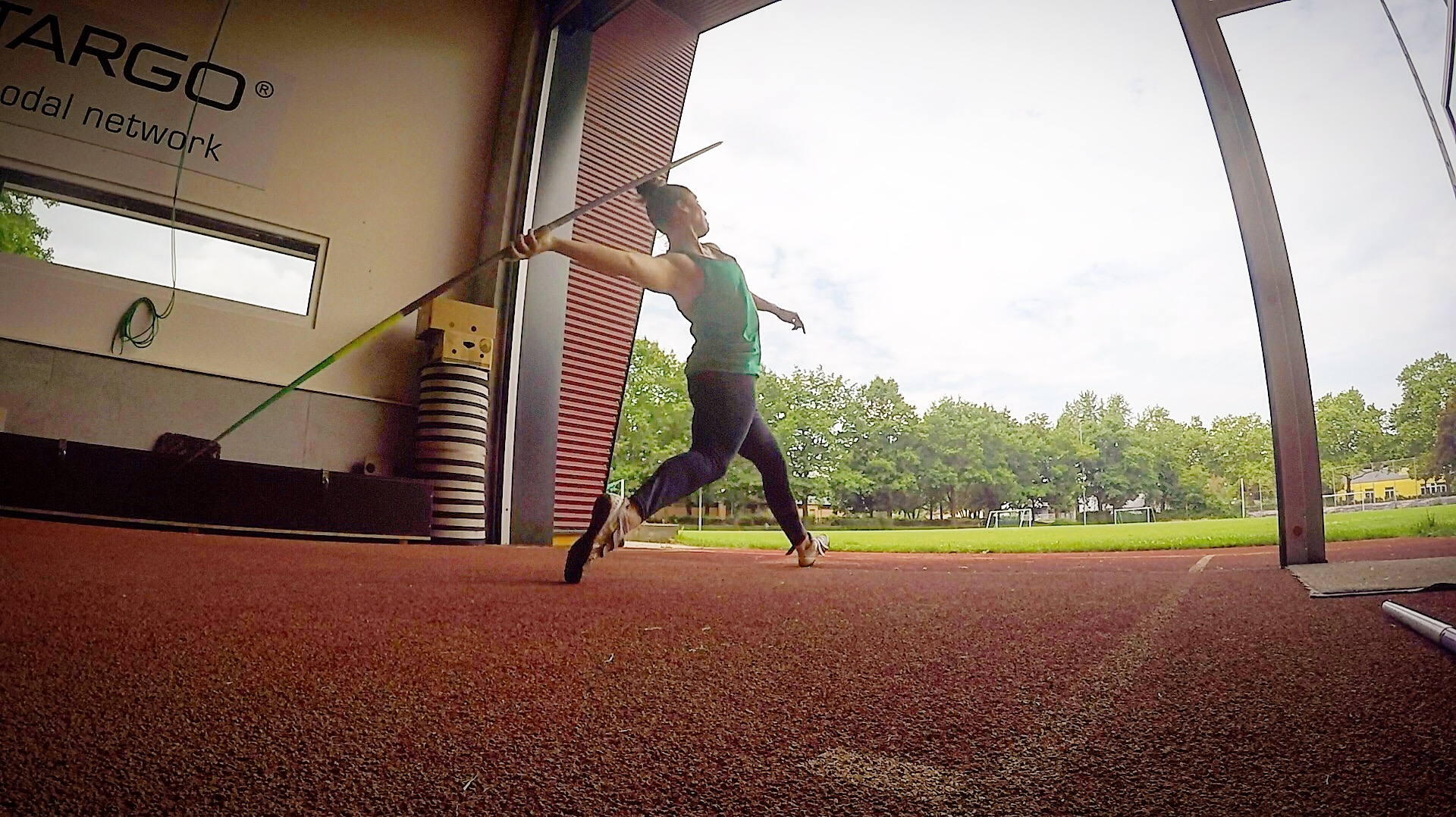 Last throwing session before this weekend's season opener!
