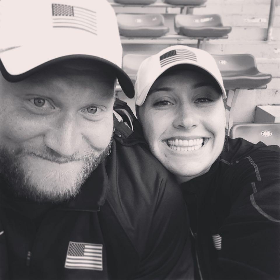 NACAC Senior Championships 2015 as husband and wife, nine years after we met at NACAC U-23 Championships! We both won in 2015. :)