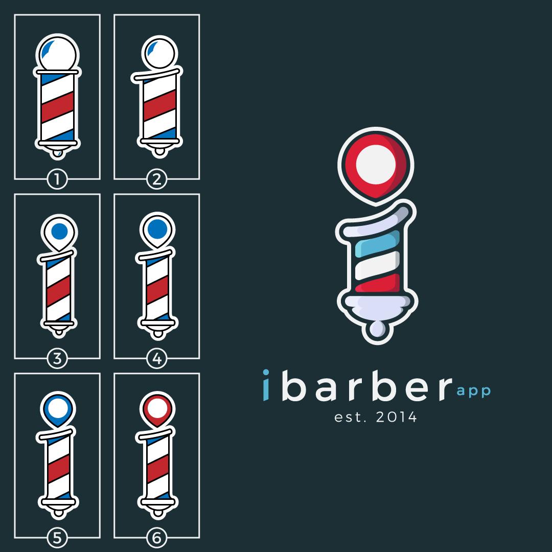 iBarber Logo Design Line - Studio 1816 Designs