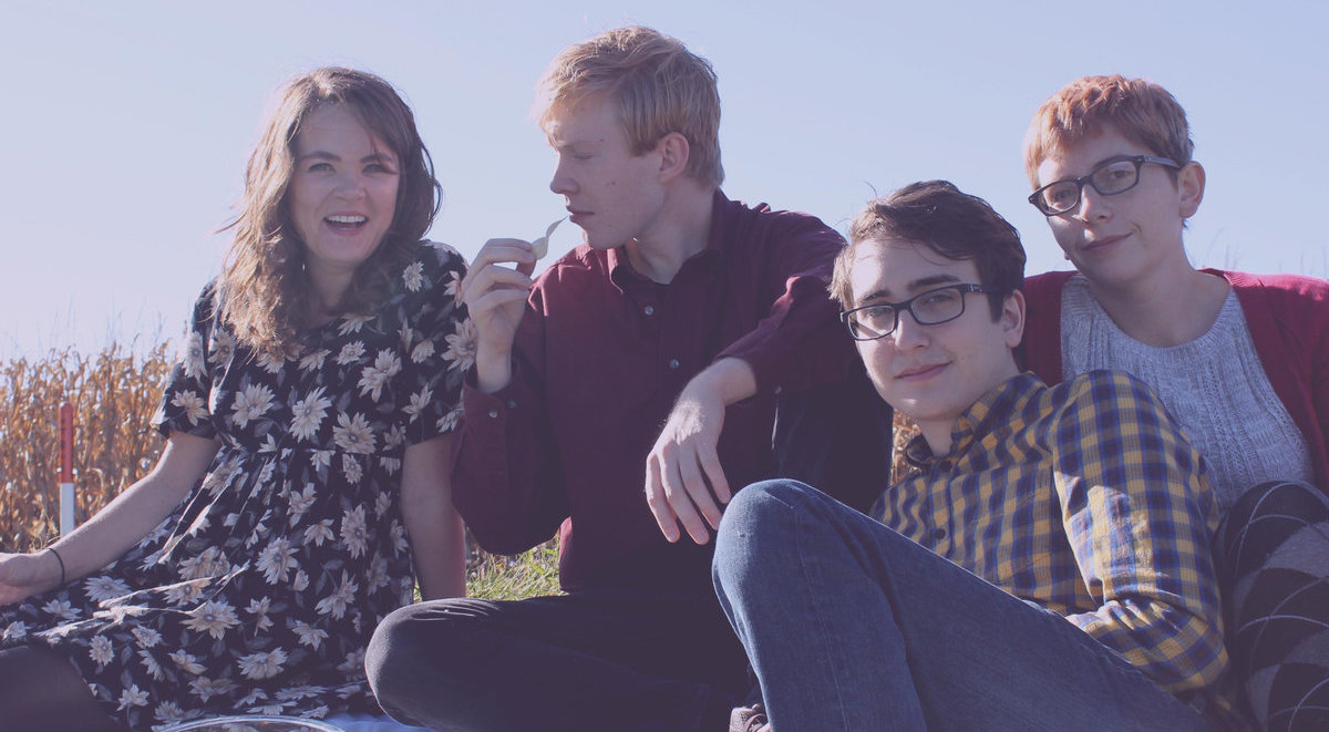 Jonesies are, from left to right: Mary Dahlman Begley, Peter Briggs, Luis Perez, and Tessa Echeverria.