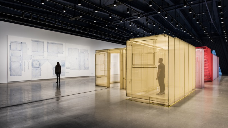Do Ho Suh, Apartment A, Unit 2, Corridor and Staircase, 348 West 22nd Street, New York, NY 10011, USA, as installed, The Contemporary Austin – Jones Center, in 2014.