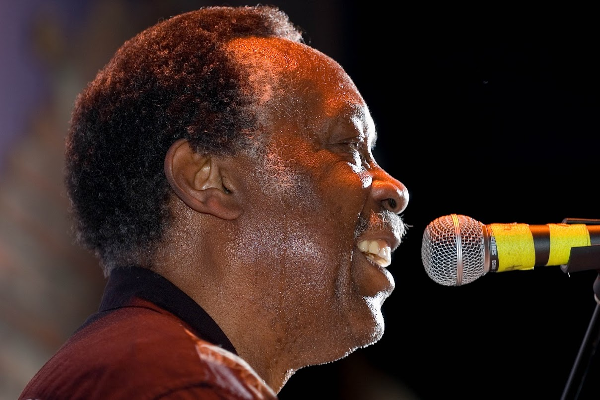 Clyde Stubblefield in 2005. Photo by  mtphrames on Flickr .