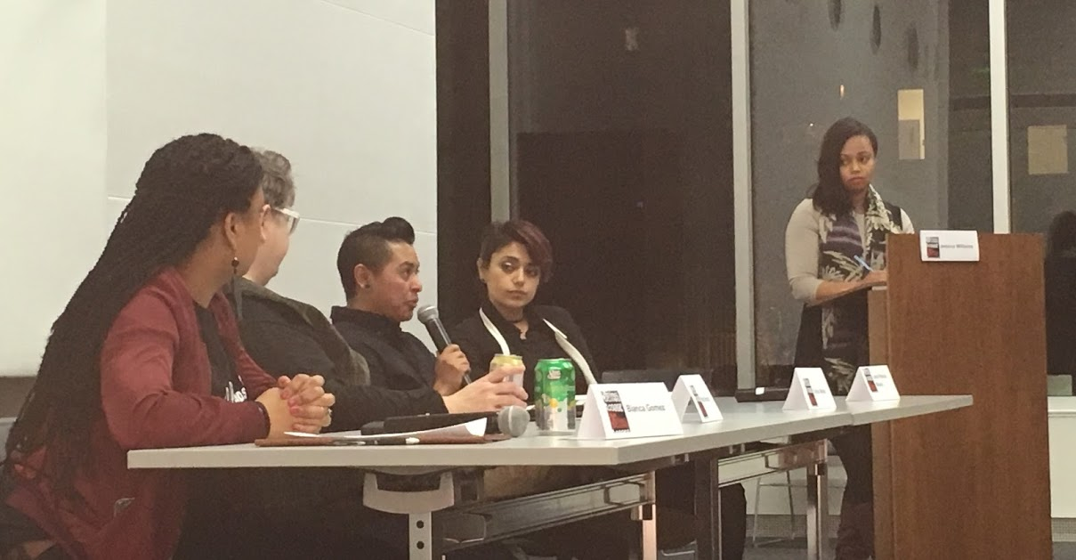 From left to right: Bianca Gomez, Kate Moran, Orion Wells, Laura Patricia Minero, and moderator Jessica Williams.