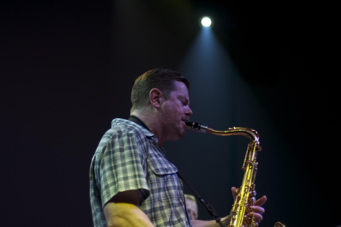 Ken Vandermark performing in 2010. Photo by  Aleksandr Zykov on Flickr .