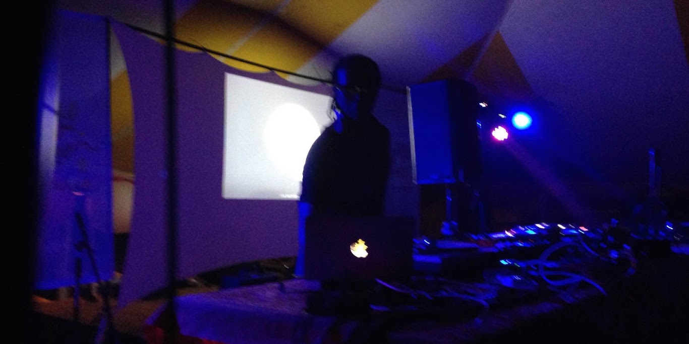 Detroit techno artist Stacey Pullen played a great DJ set at this year's Fete De Marquette electronic tent.