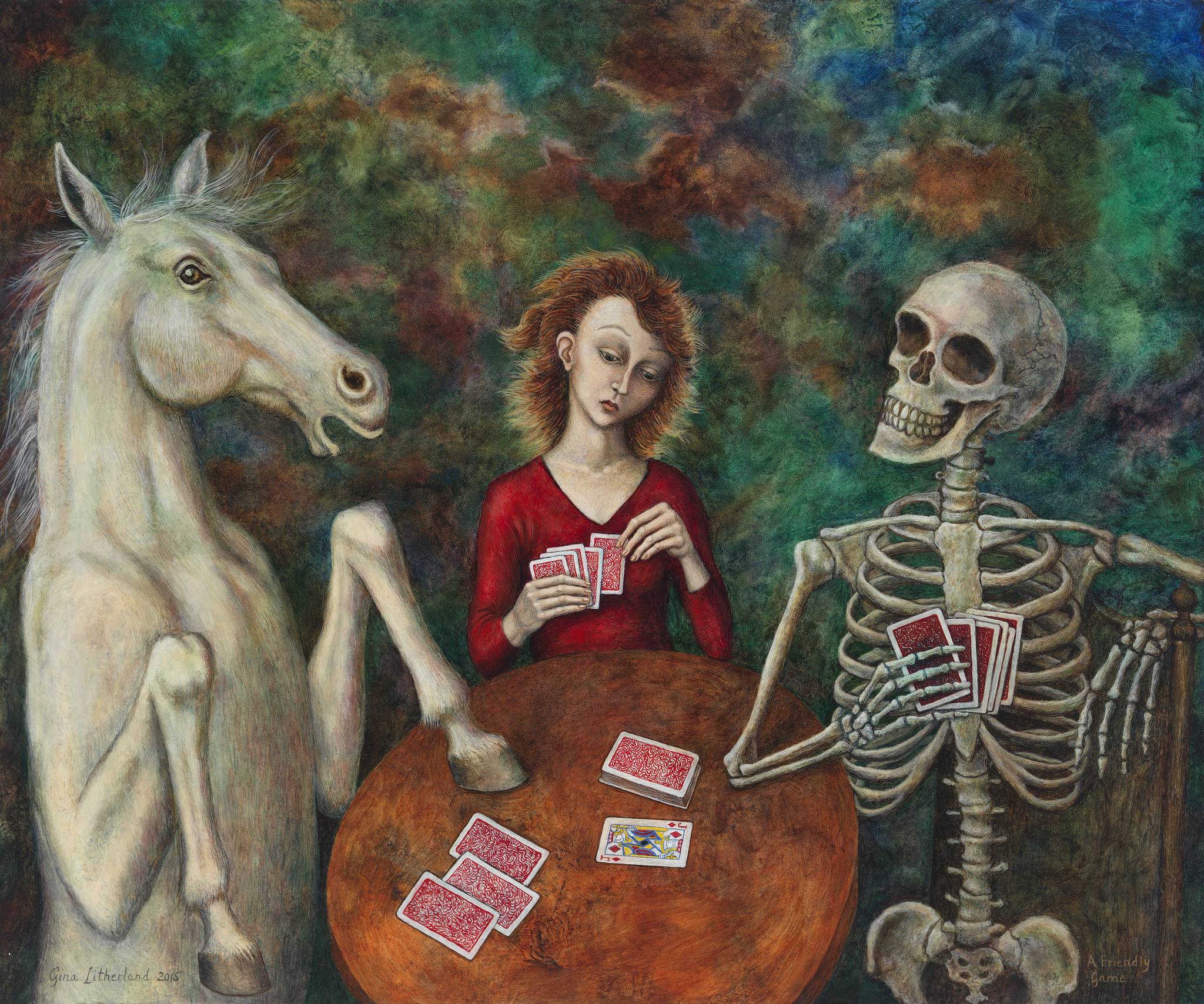 """Gina Litherland, """"A Friendly Game."""""""