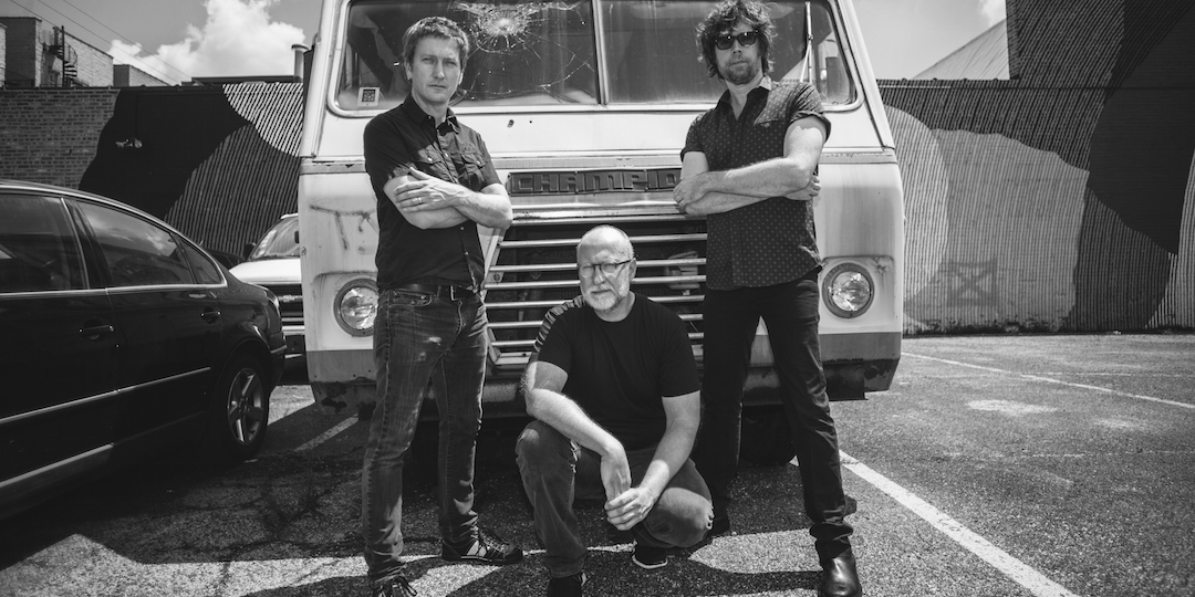 Bob Mould and band (Jason Narducy, left, and Jon Wurster) will play April 20 at the Majestic.